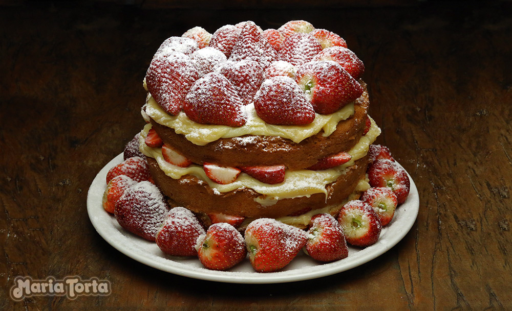 Naked Cake Morango
